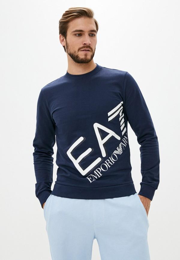 мужской свитшот ea7, синий