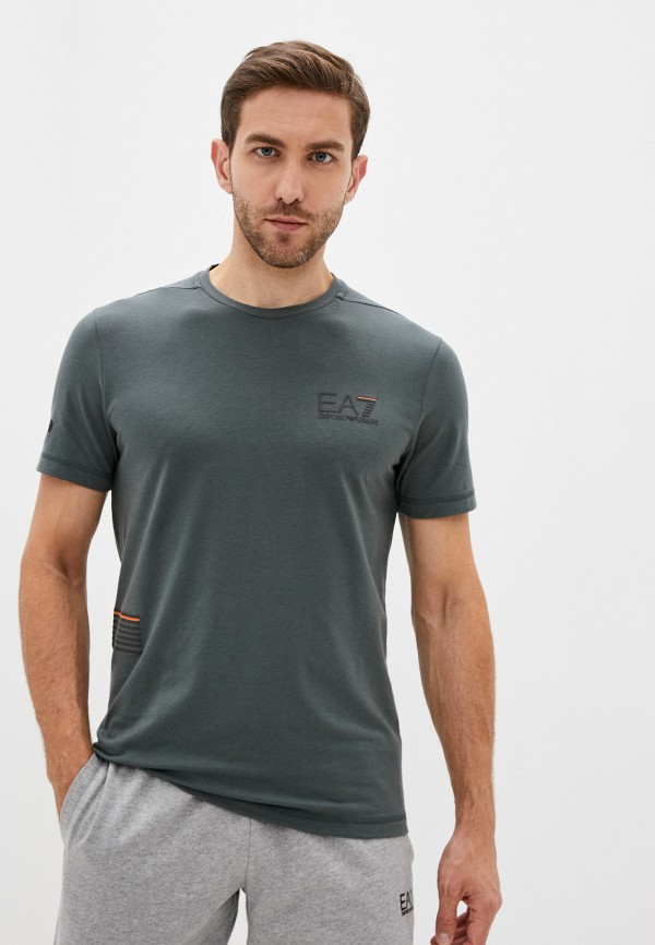 мужская футболка ea7, зеленая