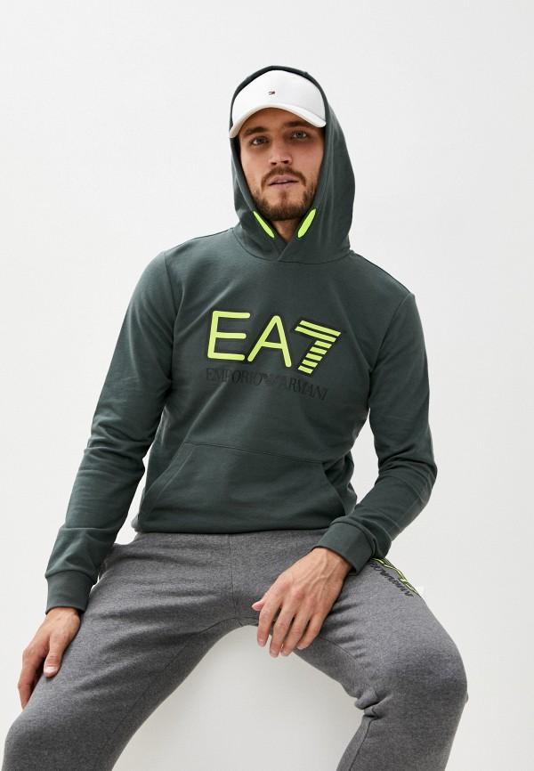 мужские худи ea7, зеленые