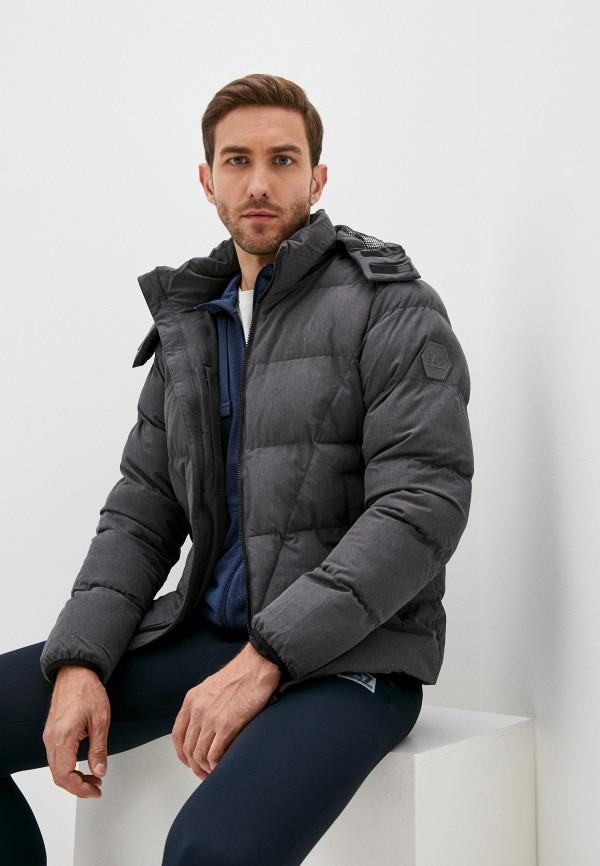 мужская куртка ea7, серая