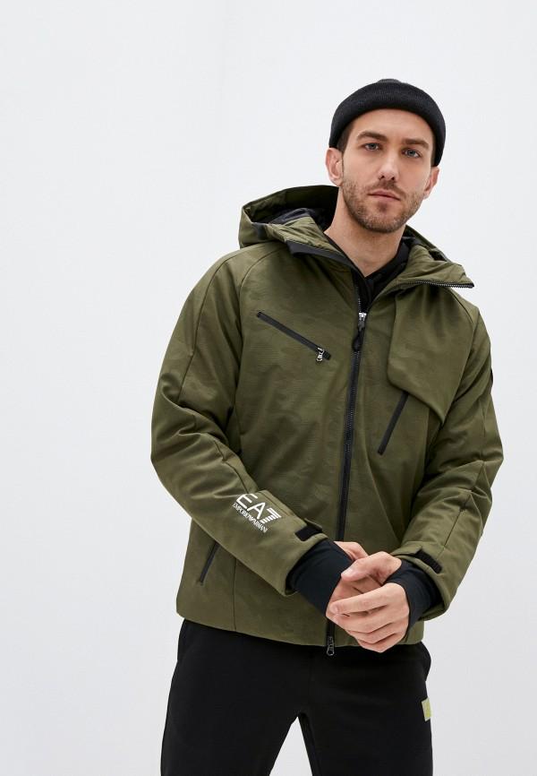 мужская куртка ea7, хаки