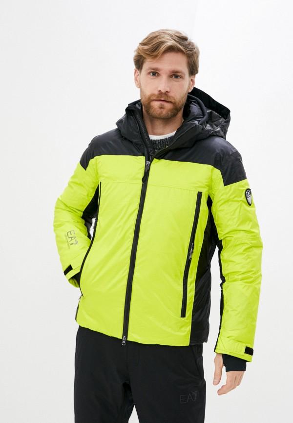 мужская куртка ea7, желтая