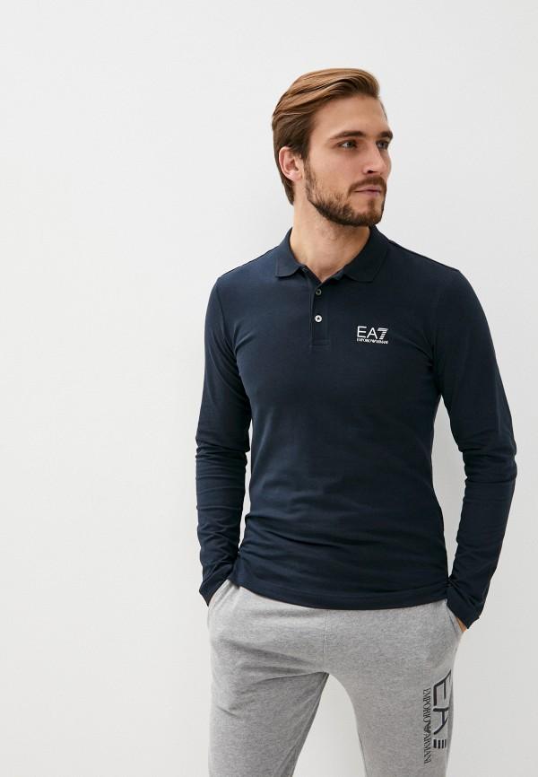 мужское поло ea7, синее