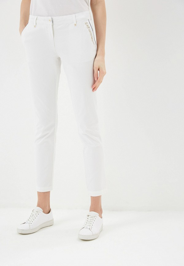 женские спортивные брюки ea7, белые