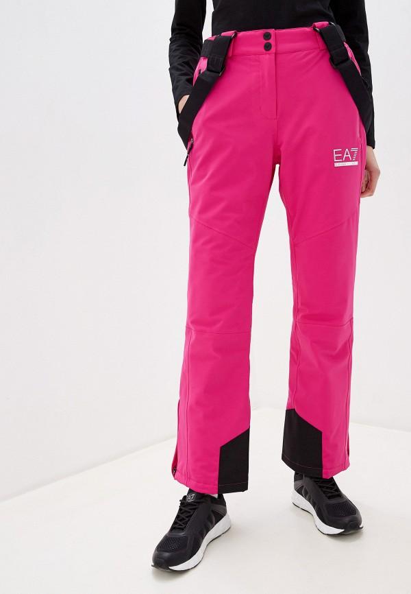 женские брюки ea7, розовые