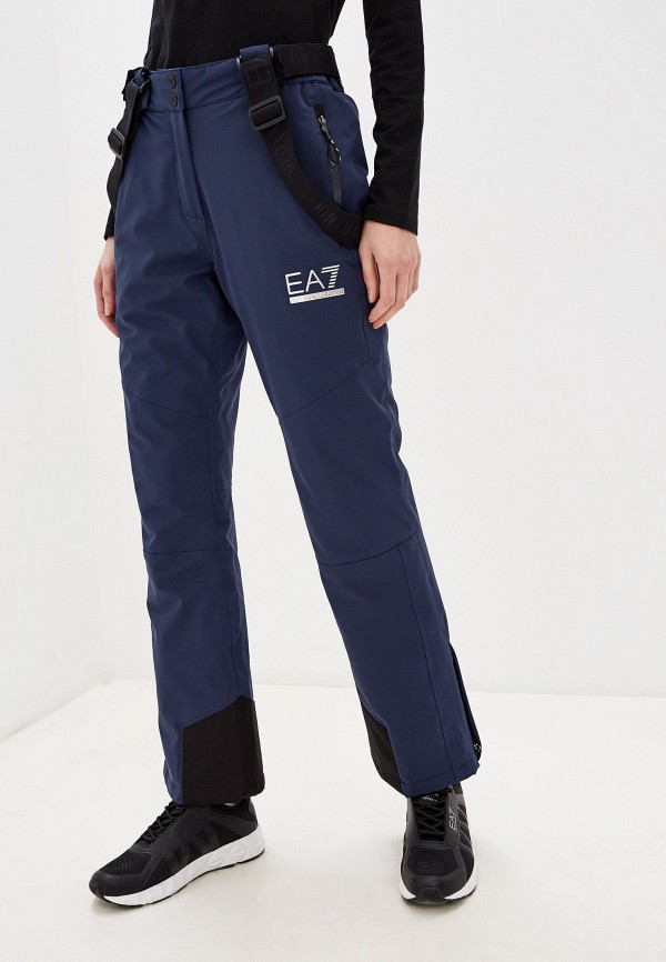 женские брюки ea7, синие