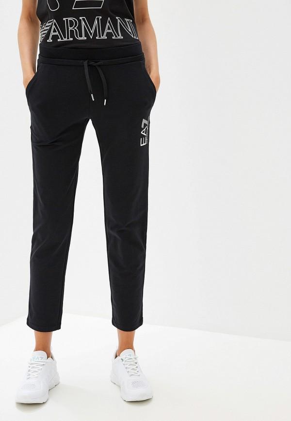 женские спортивные спортивные брюки ea7, черные