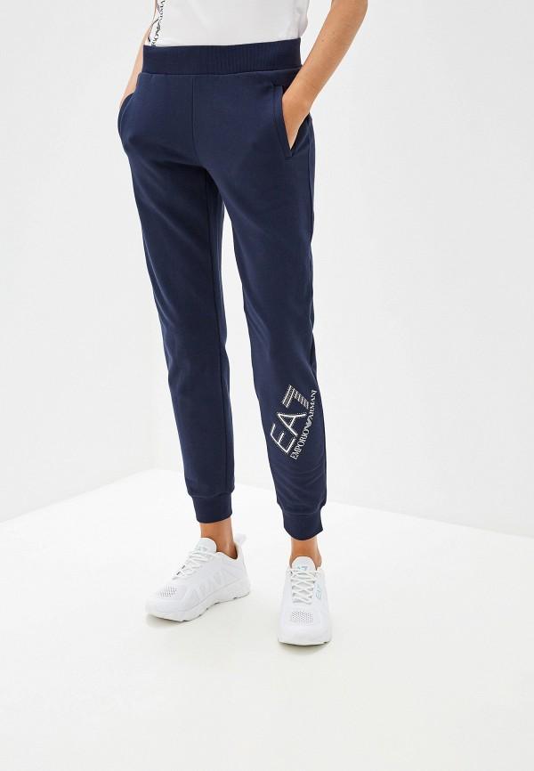 женские спортивные спортивные брюки ea7, синие