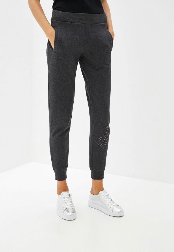 женские спортивные спортивные брюки ea7, серые