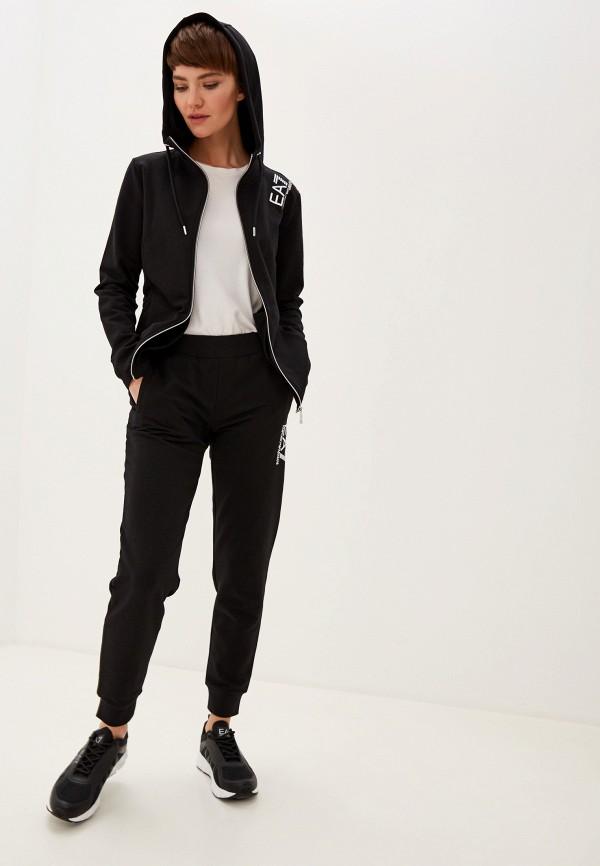 женский спортивные спортивный костюм ea7, черный