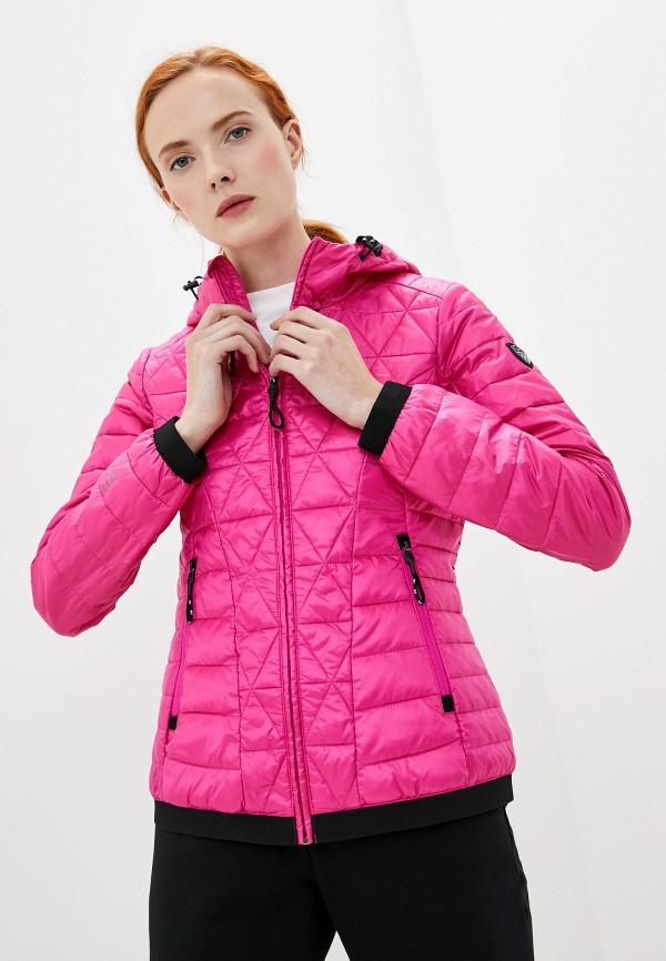 женская куртка ea7, розовая