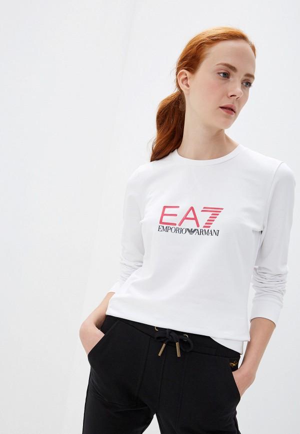 женский лонгслив ea7, белый