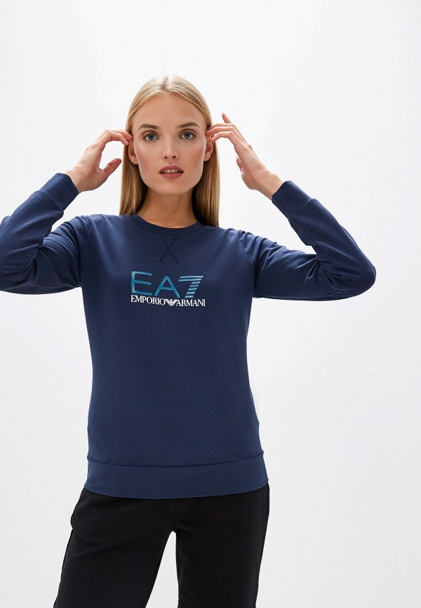 женский свитшот ea7, синий