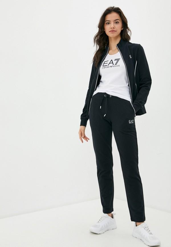 женский спортивный костюм ea7, черный