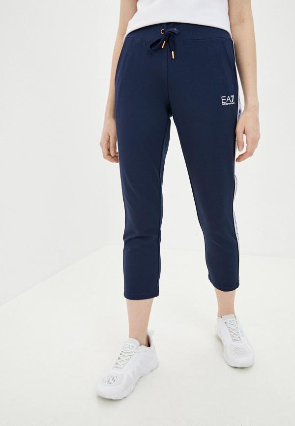 женские спортивные брюки ea7, синие