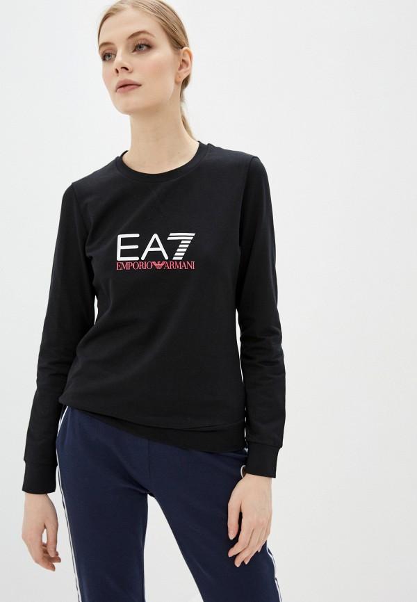 женский свитшот ea7, черный