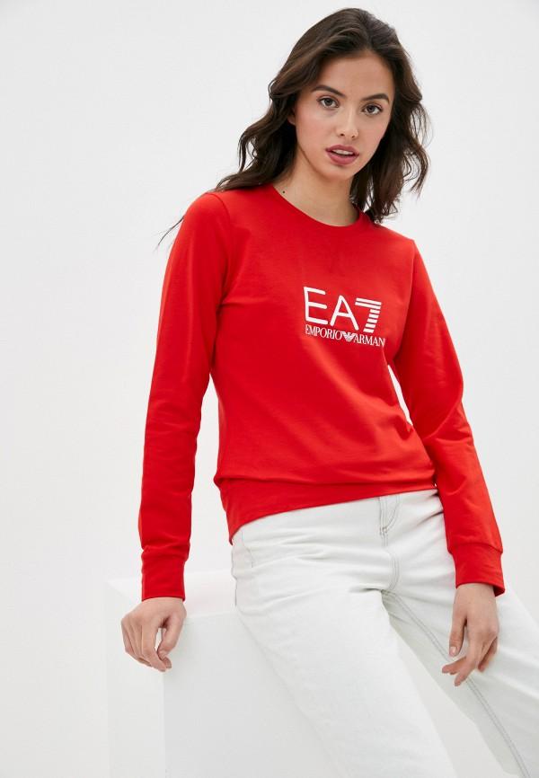 женский свитшот ea7, красный