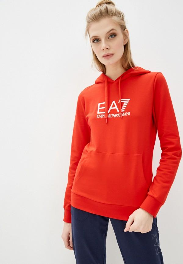 женские худи ea7, красные