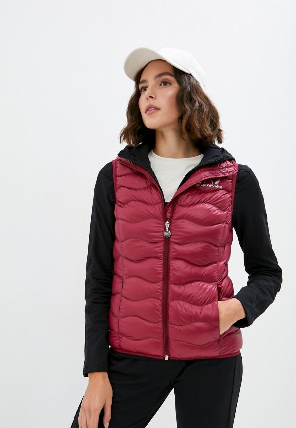 женский жилет ea7, розовый