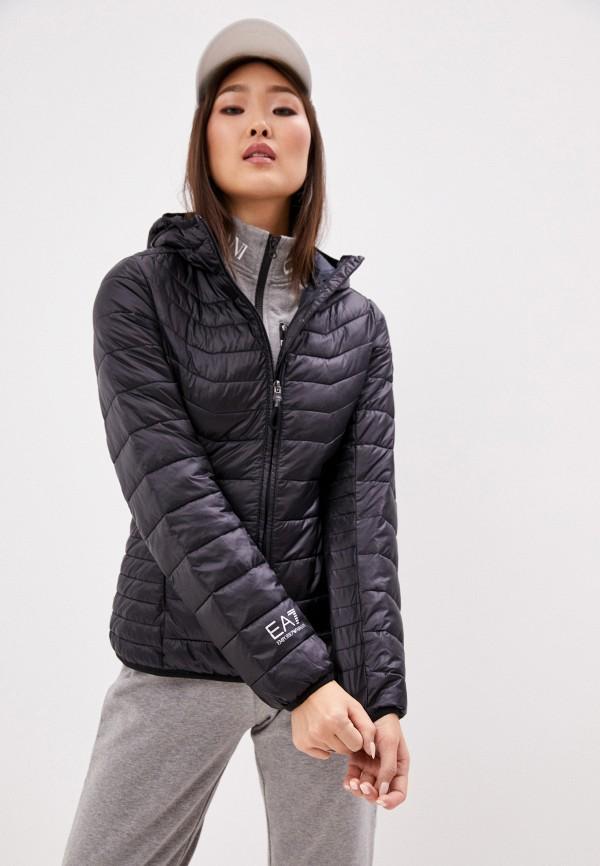 женская куртка ea7, черная