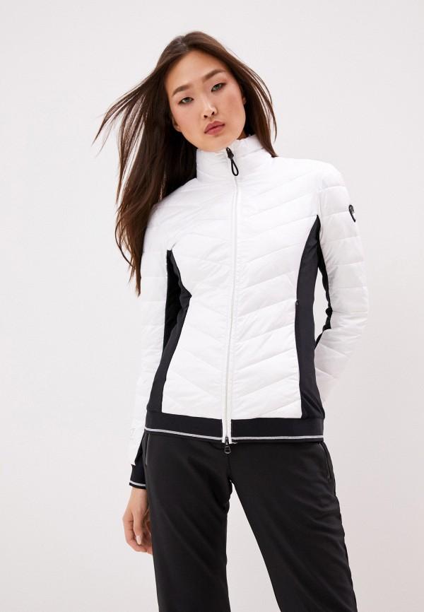 женская куртка ea7, белая