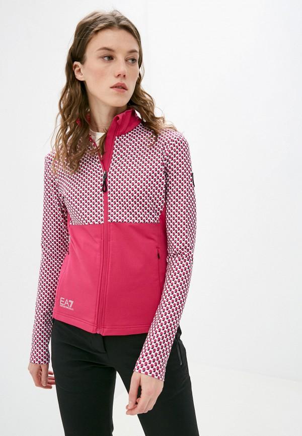 женская олимпийка ea7, розовая