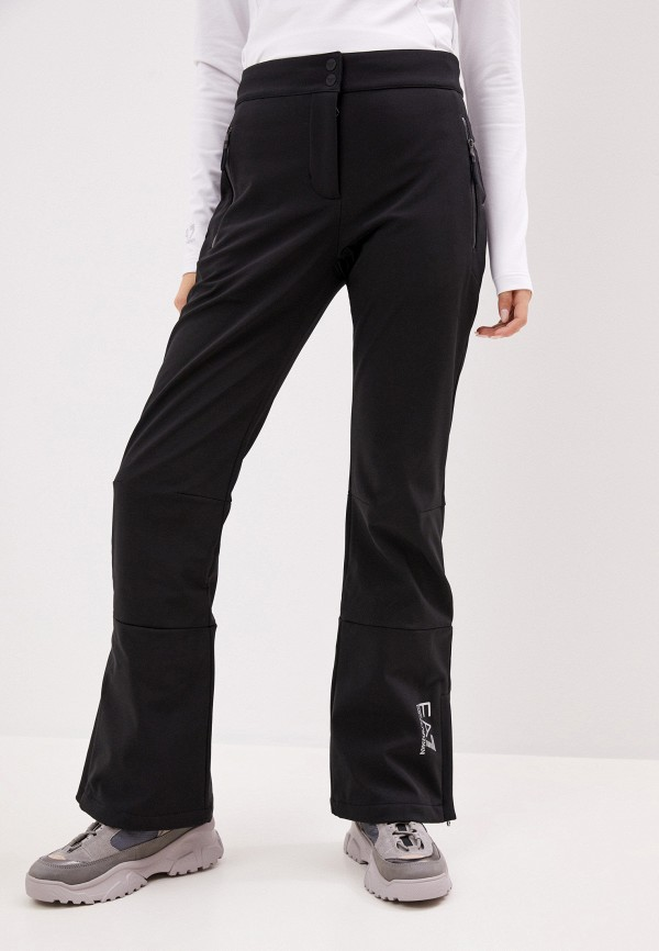женские брюки ea7, черные