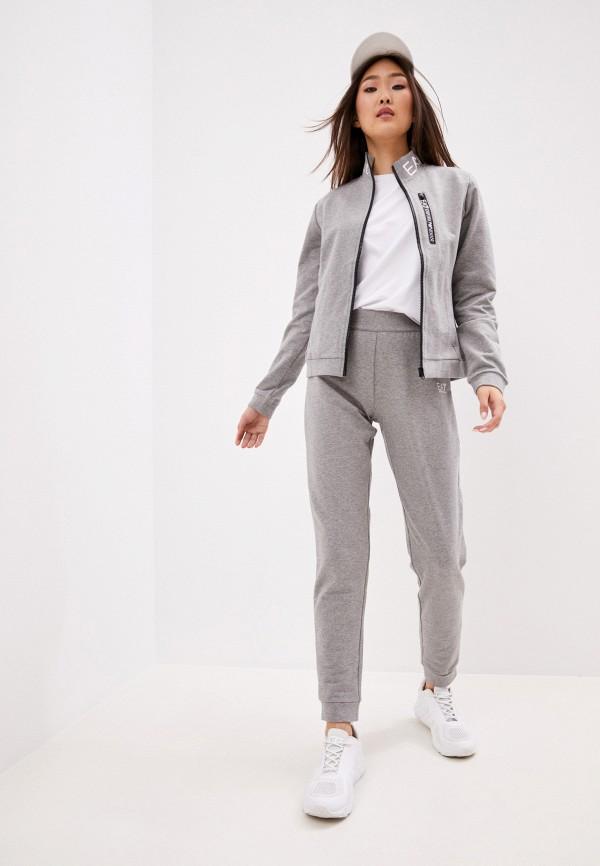 женский спортивный костюм ea7, серый