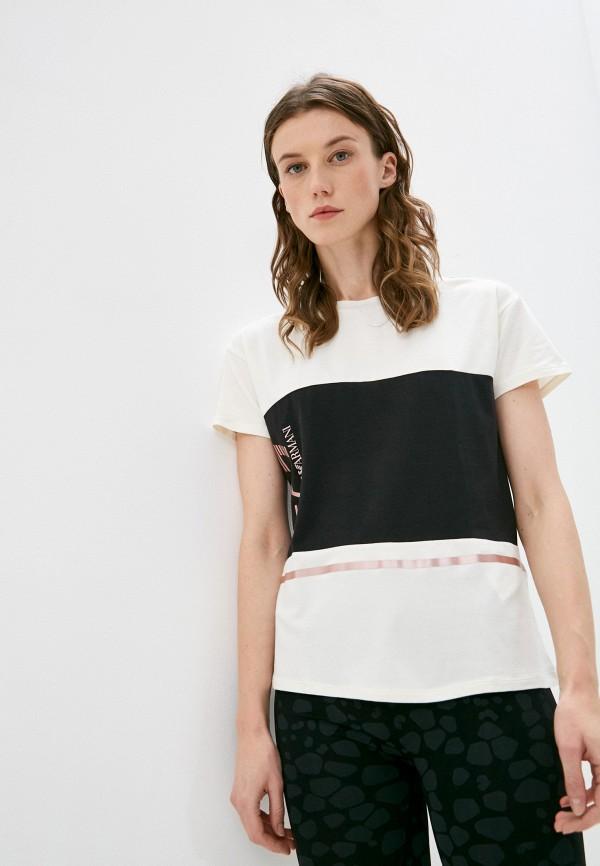 женская футболка ea7, разноцветная