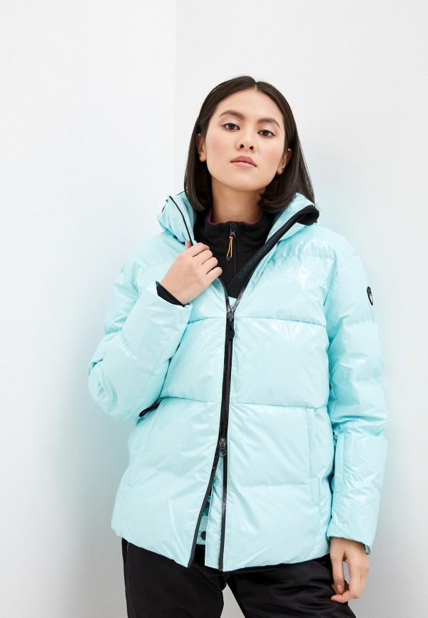 женская куртка ea7, голубая