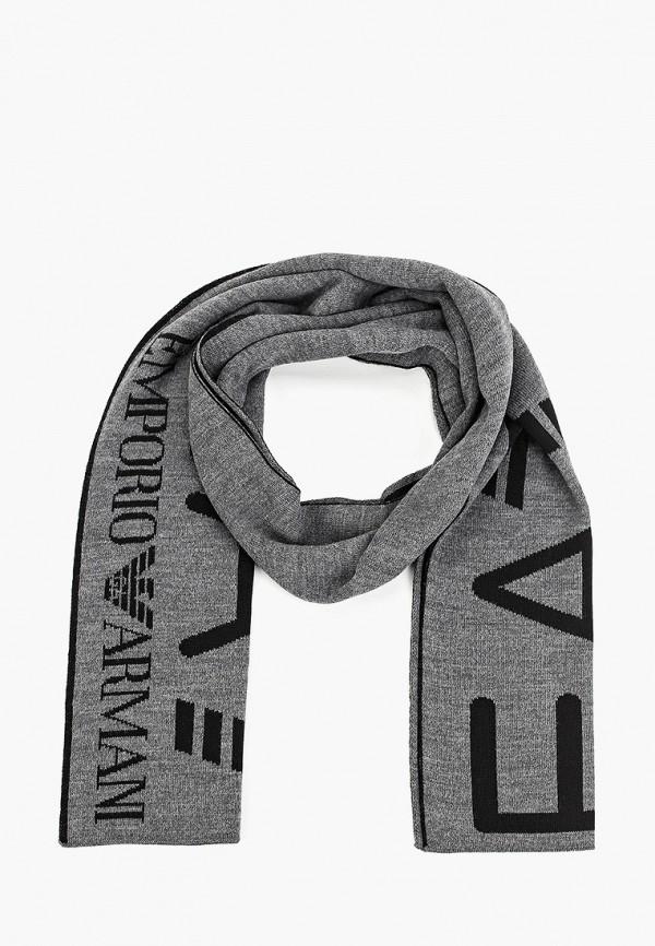 мужской шарф ea7, разноцветный