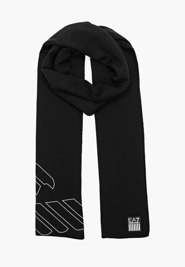 мужской шарф ea7, черный