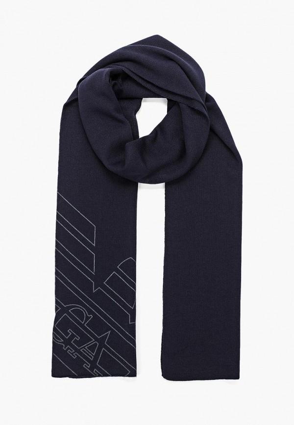 мужской шарф ea7, синий