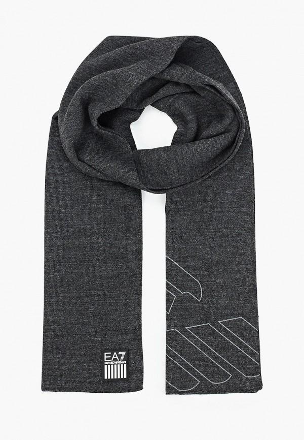 мужской шарф ea7, серый