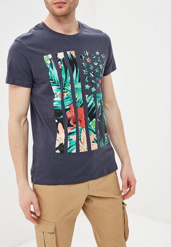 мужская футболка с коротким рукавом e-bound, синяя