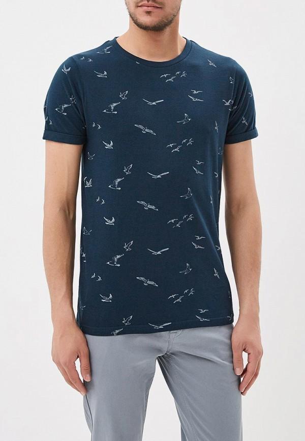 Купить мужскую футболку E-Bound синего цвета