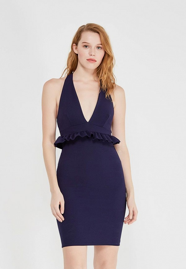 женское вечерние платье edge street, синее