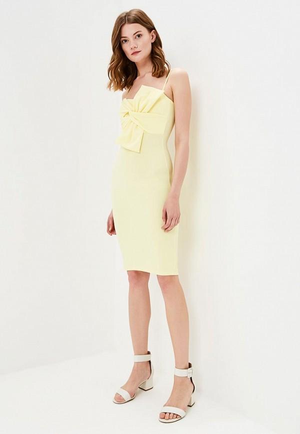 женское повседневные платье edge street, желтое