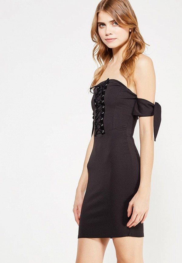 женское вечерние платье edge street, черное