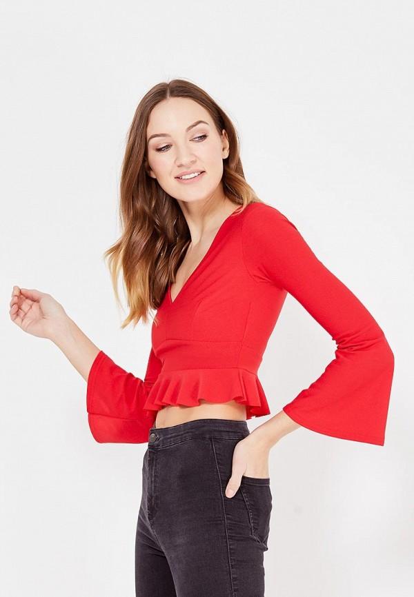 женская блузка edge street, красная