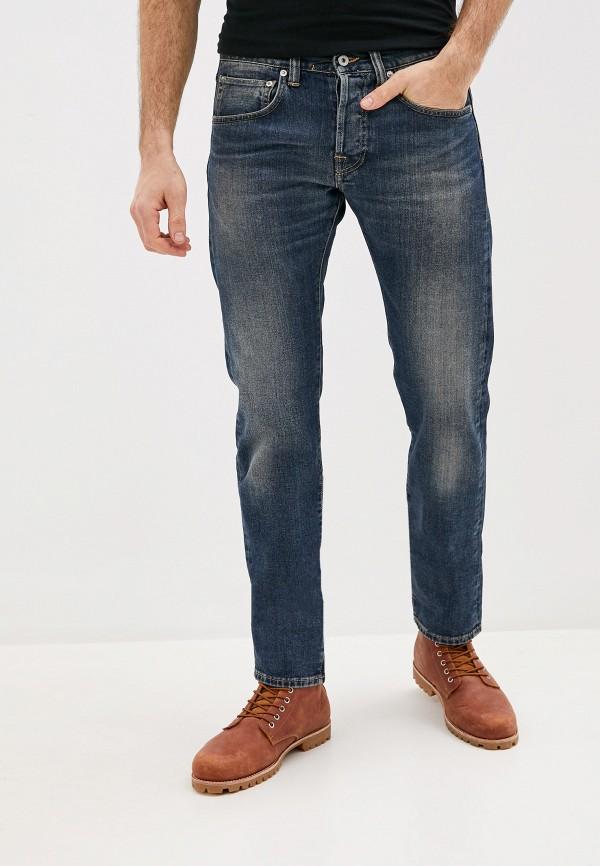 мужские зауженные джинсы edwin, синие