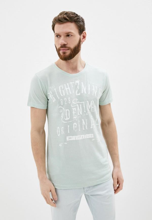 мужская футболка с коротким рукавом eight2nine, бирюзовая
