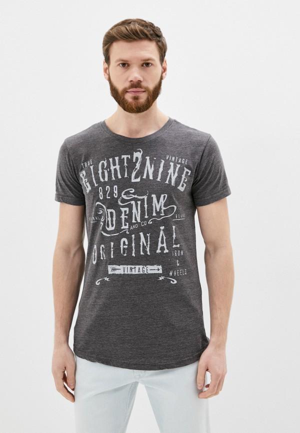 мужская футболка с коротким рукавом eight2nine, серая