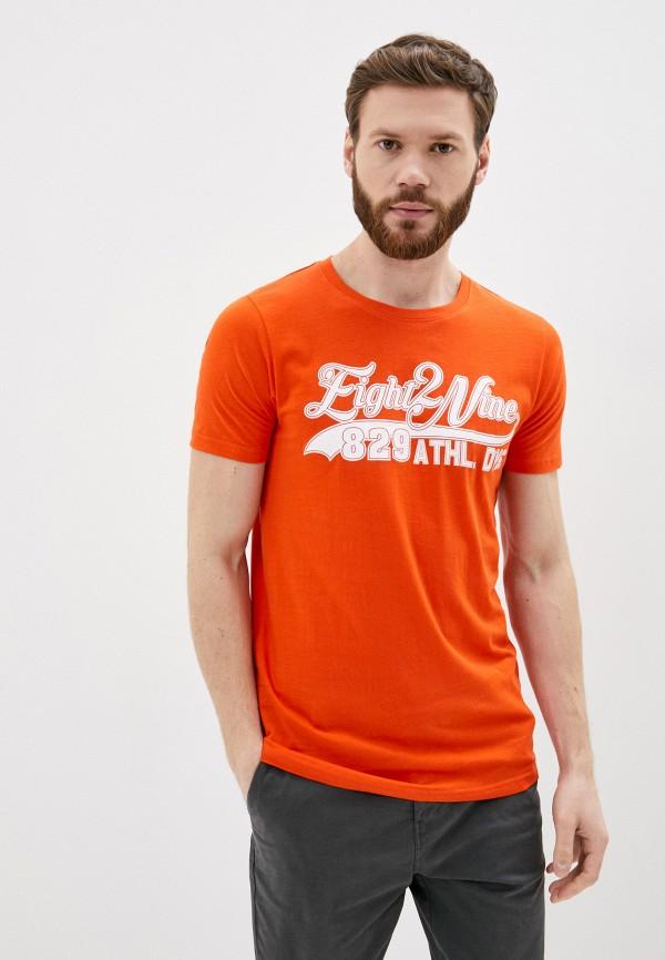 мужская футболка с коротким рукавом eight2nine, оранжевая