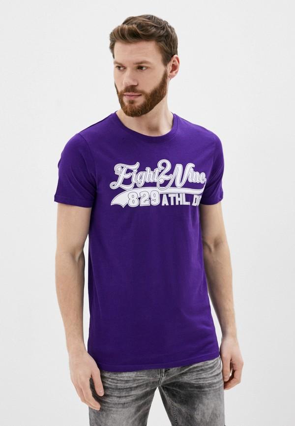 мужская футболка с коротким рукавом eight2nine, фиолетовая