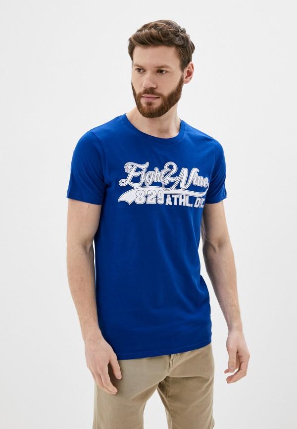 мужская футболка с коротким рукавом eight2nine, синяя