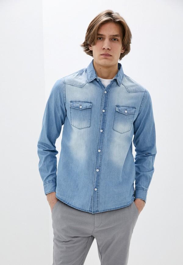 мужская джинсовые рубашка eight2nine, голубая