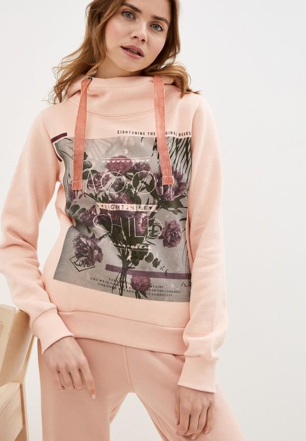 женские худи eight2nine, розовые