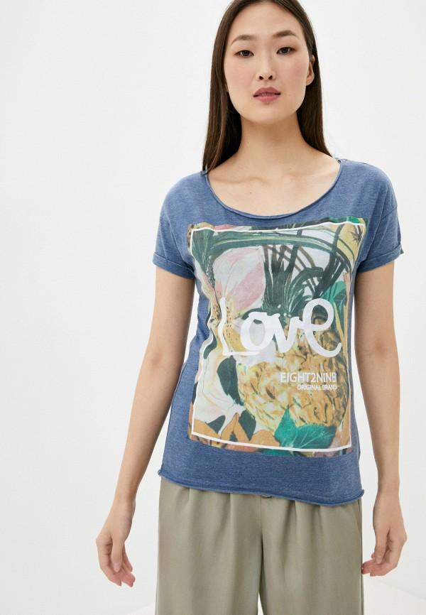 женская футболка eight2nine, синяя