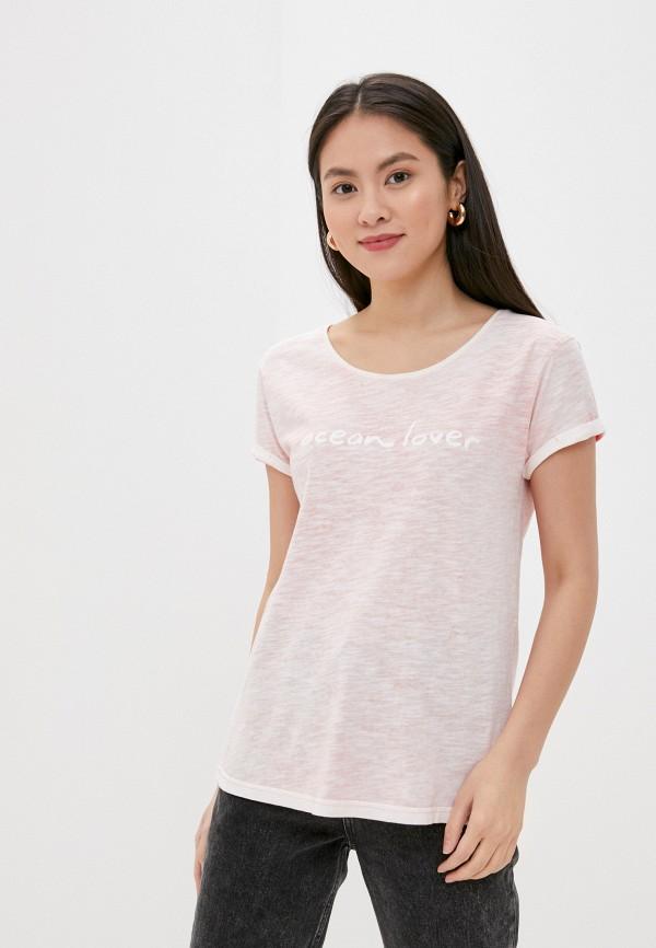 женская футболка eight2nine, розовая